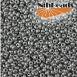 Zdjęcie - Koraliki NihBeads 12/0 Metallic Frosted Aluminium