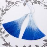Zdjęcie - Chwost z wiskozy ombre niebieski 10cm