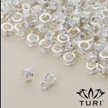 Zdjęcie - Krawatka z warkoczem w srebrnym kolorze 3mm