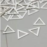 Zdjęcie - Srebrna blaszka celebrytka trójkąt, próba 925 14mm