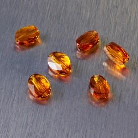 Zdjęcie - 5051 Swarovski mini oval bead 8x6mm Tangerine
