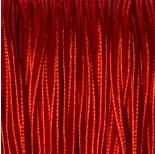 Zdjęcie - Sznurek wiskozowy pleciony krwisty czerwony 3mm