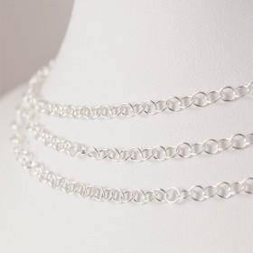 Zdjęcie - Srebrny łańcuszek kółeczka, próba Ag925 3.5mm