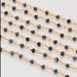 Zdjęcie - Łańcuch z kryształkami oponkami hematite 3x4mm