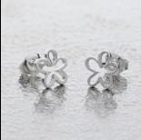 Zdjęcie - Srebrne kolczyki kwiatki próba Ag925 8mm