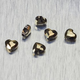 Zdjęcie - 5741 Swarovski love bead 8mm Metalic Light Gold