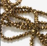 Zdjęcie - Kryształki oponki antique gold 4x6mm
