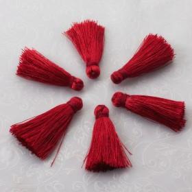 Zdjęcie - Chwost z wiskozy czerwony 30mm