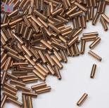 Zdjęcie - Koraliki Miyuki Bugles #2 6 mm Metallic Dk Bronze