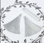 Zdjęcie - Chwost z wiskozy jasnoszary 10cm