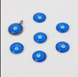 Zdjęcie - Kaboszon szklany kalejdoskop 14mm niebieski