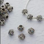 Zdjęcie - Koralik w srebrnym kolorze z kryształkami crystal AB 5mm