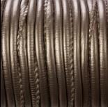 Zdjęcie - Rzemień szyty metallic steal 4mm
