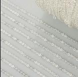 Zdjęcie - Łańcuszek płaskie koła drobne w srebrnym kolorze 0.7mm