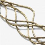 Zdjęcie - Hematyt platerowany matowy czworokąt złoty 2x4mm