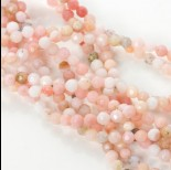 Zdjęcie - Opal różowy kulka fasetowana 4mm