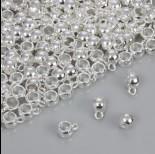 Zdjęcie - Gładka krawatka do rzemieni w srebrnym kolorze 5mm