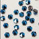 Zdjęcie - 5060 Hexagon Spike bead metalic blue 7.5mm