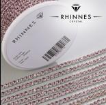 Zdjęcie - Taśma z kryształkami kolor srebrny amethyst rose 3mm