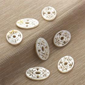 Zdjęcie - Masa perłowa owal rzeźbiony  30x20mm
