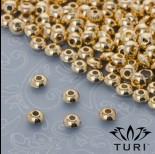 Zdjęcie - Koralik dysk w złotym kolorze 5mm