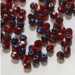 Zdjęcie - Fire Polish Blue Iris - Siam Ruby (BR90080) 3mm