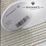 Zdjęcie - Taśma z kryształkami kolor srebrny jonquil AB 2mm