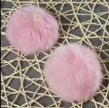 Pompon pastelowo różowy 8cm
