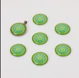 Zdjęcie - Kaboszon szklany kalejdoskop 20mm zielono-błękitny