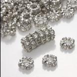Zdjęcie - Przekładka oponka z kryształkami falująca crystal  4x11mm