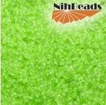 Zdjęcie - Koraliki NihBeads 12/0 Inside-Color Crystal/ Neon Green Line