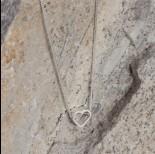 Zdjęcie - Srebrny rodowany koralik serduszko 6,5x7mm, Ag925
