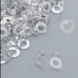 Zdjęcie - Srebrne kolczyki celebrytki kółka wycięte, Ag 925, 10mm