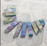 Zdjęcie - Kwarc górski plasty stopniowane zestaw do naszyjnika