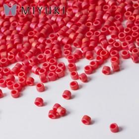 Zdjęcie - Koraliki Miyuki Delica 11/0 Opaque Cranberry AB Matted