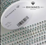 Zdjęcie - Taśma z kryształkami kolor srebrny blue zircon 3mm