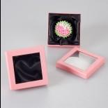 Zdjęcie - Pastelowo różowe pudełko z okienkiem 9x9cm