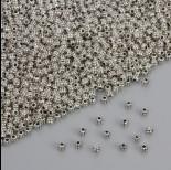 Zdjęcie - Koralik nacinany w kolorze ciemnego srebra 3.5mm