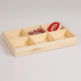 Zdjęcie - Ekspozytor drewniany 6 komorowy 31.5x21 cm