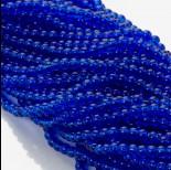 Zdjęcie - Koraliki szklane kobaltowe 4mm