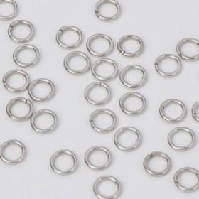 Zdjęcie - Kółeczka zaciskowe w kolorze ciemnego srebra 6x1mm