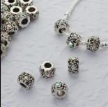 Zdjęcie - Koralik z kryształkami róża crystal AB 5mm