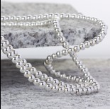 Zdjęcie - Hematyt kulki platerowane gładkie white silver 4mm