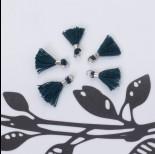 Zdjęcie - Mini chwosty w srebrnym okuciu ciemny zielony 10mm