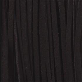 Zdjęcie - Rzemień zamszowy płaski czarny 2,5x1mm