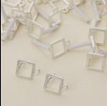 Zdjęcie - Kolczyki kwadraty wycięte z oczkiem 14 mm