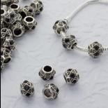 Zdjęcie - Koralik z kryształkami wzorki jet 5mm