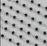 Zdjęcie - Łańcuch z kryształkami kulkami jet 3mm