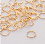 Zdjęcie - Srebrny łącznik koło diamentowe ag925 złocone 9.5mm