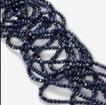 Zdjęcie - Kryształki oponki fasetowane blue hematite 2x3mm